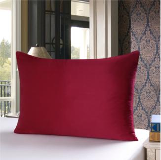 ワインレッド クラレッド色のシルク枕カバー