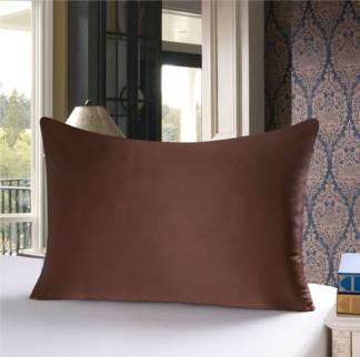 チョコレート 茶色のシルク枕カバー