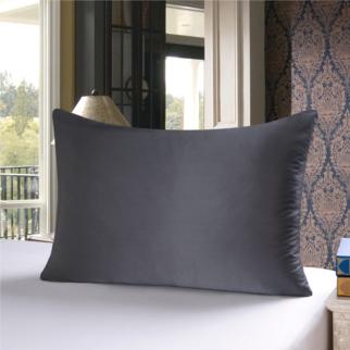 グレー 灰色のシルク枕カバー