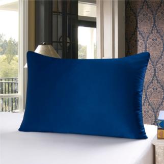 ネイビー 青色のシルク枕カバー