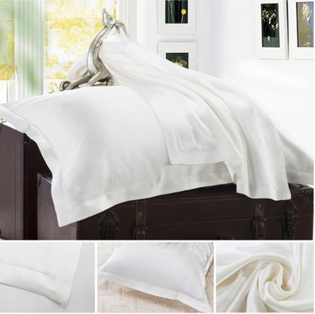 ホワイト 白色のシルク枕カバー