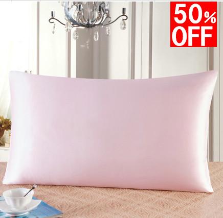 在庫セール シルク枕カバー ピローケース ピンク