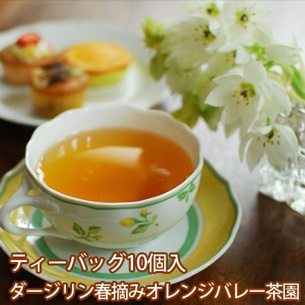 ティーバッグ10個入りパック「ダージリン春摘みオレンジバレー茶園」(ダージリン・ファーストフラッシュ)[紅茶]