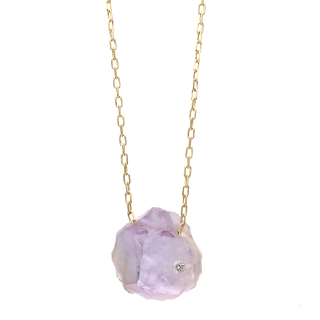 RoughStone Necklace(Amethyst)