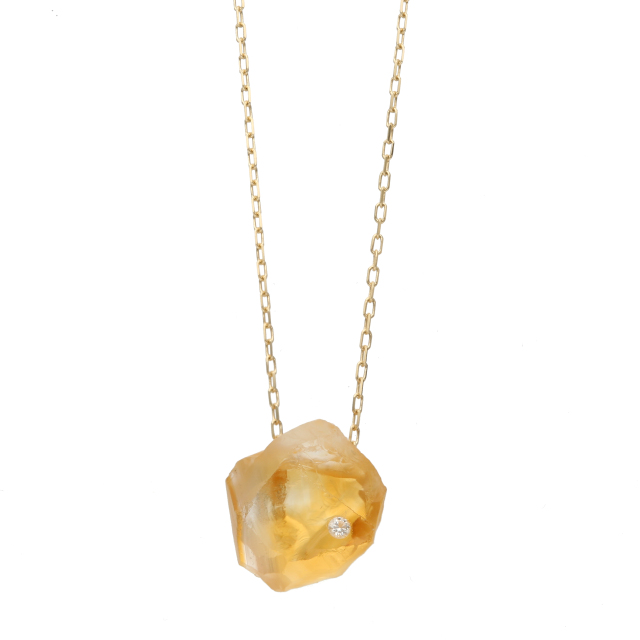 RoughStone Necklace(Citrine)
