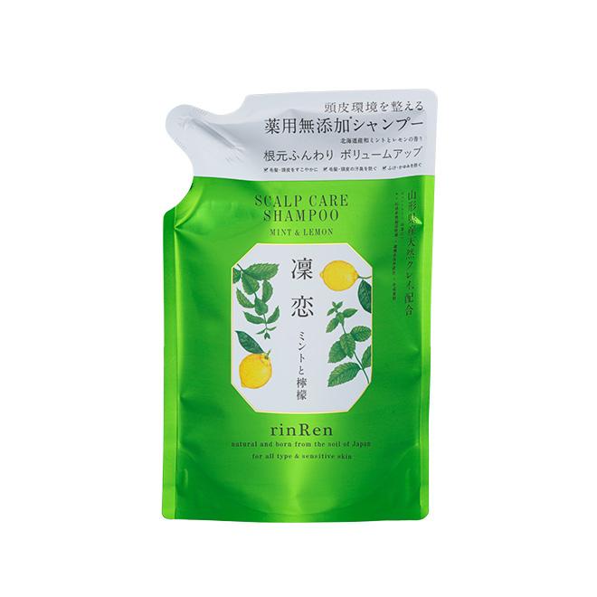 [薬用]rinRen(凛恋 リンレン) シャンプー ミント&レモン リフィル(つめかえ) 300mL