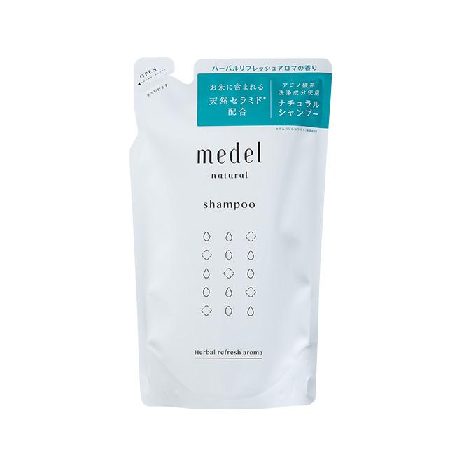 medel natural(メデル ナチュラル)シャンプー ハーバルリフレッシュアロマ(詰め替え)350mL