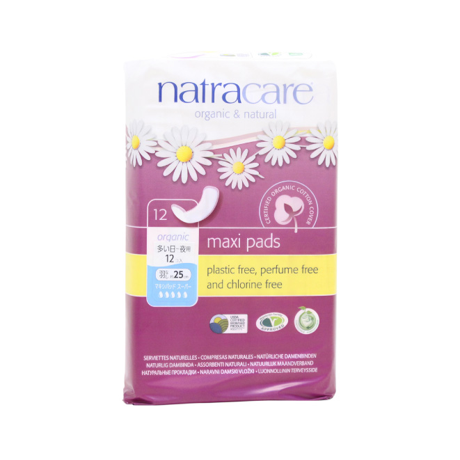 natracare(ナトラケア) 生理用ナプキン マキシパッド スーパー(多い日~夜用・羽なし)