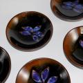 紫紅葉小鉢揃い