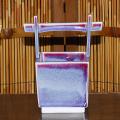 辰砂手桶型花器1