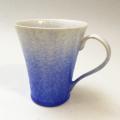 藍染水滴マグカップ(真右ェ門窯)桐箱入