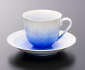 藍染水滴珈琲碗-新-(真右ェ門窯)桐箱付