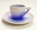 藍染水滴デミタス碗皿(真右エ門窯)