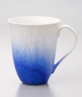 藍染水滴マグカップ-新-(真右ェ門窯)桐箱入