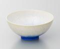 藍染水滴飯碗-小-(真右ェ門窯)桐箱付