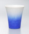 藍染水滴酒杯(真右エ門窯)桐箱入