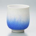 藍染水滴湯呑 - 大(真右ェ門窯)桐箱付