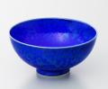 瑠璃水滴飯碗-小-(真右ェ門窯)桐箱付