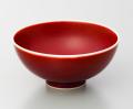 辰砂飯碗-小-(真右ェ門窯)桐箱付