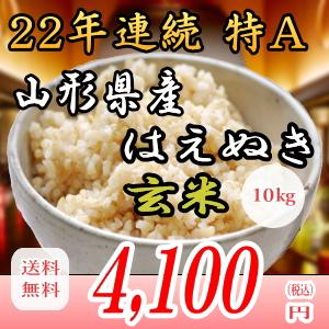 28年産山形県産はえぬき!10kg玄米!!送料無料!九州・沖縄・一部離島は配送圏外。