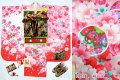 新作 七五三 正絹7歳用女の子高級着物フルセット◆白ピンク系 鞠に桜◆sup802