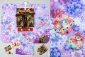 七五三 新作 7歳女子用高級着物フルセット◆紫色系 刺繍入り◆【矢車草】638