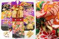 七五三 正絹7歳用女の子高級着物フルセット◆しぼり柄 紫色系 花車に花◆sdyuri001