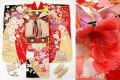 七五三 正絹7歳用女の子高級着物フルセット◆赤色系 鞠に花◆sdyuri002