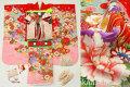 七五三 正絹7歳用女の子高級着物フルセット◆赤色系 鼓◆sdyuri023
