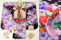 七五三 新作 7歳女子用高級着物フルセット◆濃紫色系 刺繍入り◆【矢車草】641