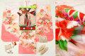 七五三 正絹7歳用女の子高級着物フルセット◆白色 ぼかし鞠◆sdtt9951
