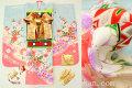 七五三 正絹7歳用女の子高級着物フルセット◆水色系 桜に花車◆sdtt9962