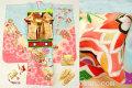 七五三 正絹7歳用女の子高級着物フルセット◆水色系 鞠に桜◆sdtt9964