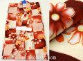 新作 女の子用 子供 変り織り浴衣(ゆかた)◇生成り系 市松柄◇【9-10歳用 130サイズ】5463