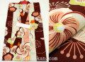新作 女の子用 子供 変り織り浴衣(ゆかた)◇生成り系 古典柄 梅◇【5-6歳用 110サイズ】5478
