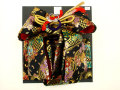 七五三やお祝着の着物に 女の子 7歳用 結び帯 大寸◇黒色系◇2001