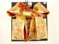 七五三やお祝着の着物に 女の子 7歳用 結び帯 大寸◇金色系◇