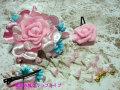 七五三 女の子用 髪飾り◆ピンク薔薇◆kf-5J