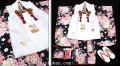 七五三 新作【夢】 国内産 3歳女の子着物(被布コート)セット◆黒色系 乱菊◆904