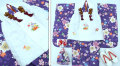 七五三 新作【夢】 国内産 3歳女の子着物(被布コート)セット◆藤紫色系 桜◆908