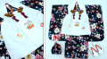 七五三 新作【夢】 国内産 3歳女の子着物(被布コート)セット◆黒色系 桜◆909
