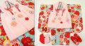 七五三 新作 3歳女の子着物(被布コート)セット◆水色系 雪輪に花◆sd5888