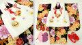 七五三 新作 3歳女の子着物(被布コート)セット◆黒色系 大花◆sd5894
