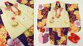 七五三 新作 3歳女の子着物(被布コート)セット◆青紫色系 大花◆sd5895