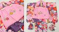 七五三 新作 3歳女の子着物(被布コート)セット【星】◆ピンク/紫色系 絞り柄 大花◆141