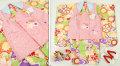 七五三 新作 3歳女の子着物(被布コート)セット◆ピンク系/黄緑色系 しぼり柄 雪輪に花◆sy5910