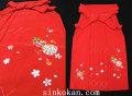 七五三 7歳女の子用 刺繍 袴◆赤色系◆tomi7032