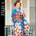 ◆成人式・正装に!◆ブランド A-STYLE 仕立て上り 振袖フルセット●M05