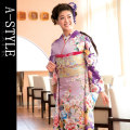 ◆成人式・正装に!◆ブランド A-STYLE 仕立て上り 振袖フルセット●L05
