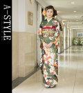 ◆成人式・正装に!◆ブランド A-STYLE 仕立て上り 振袖フルセット●K03